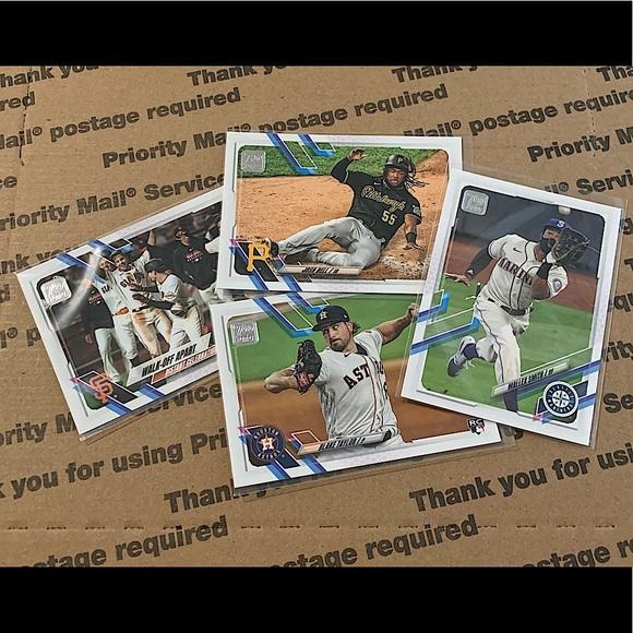Lot of 4 '21 Topps 70 Baseball Cards